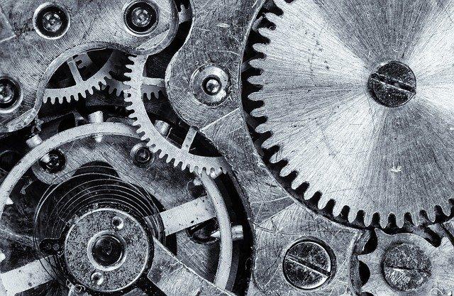 macro, cogwheel, gear